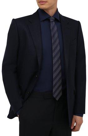 Мужской шелковый галстук ETON темно-синего цвета, арт. A000 32662   Фото 2