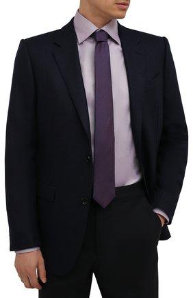 Мужской шелковый галстук ETON фиолетового цвета, арт. A000 32665   Фото 2