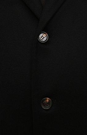 Мужской кашемировое пальто KIRED черного цвета, арт. WR0MAW6818022001/62-74 | Фото 5 (Big sizes: Big Sizes; Материал внешний: Шерсть, Кашемир; Рукава: Длинные; Длина (верхняя одежда): До колена; Стили: Классический; Материал подклада: Синтетический материал; Мужское Кросс-КТ: пальто-верхняя одежда)