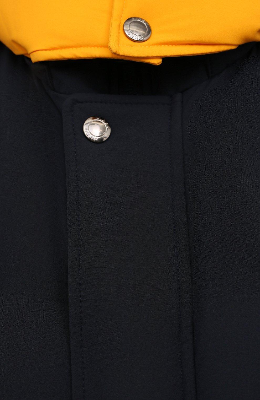 Мужской пуховый жилет KIRED темно-синего цвета, арт. WBREMAW6806523002/62-74 | Фото 5 (Кросс-КТ: Куртка, Пуховик; Big sizes: Big Sizes; Материал внешний: Синтетический материал; Материал подклада: Синтетический материал; Длина (верхняя одежда): Короткие; Материал утеплителя: Пух и перо; Стили: Кэжуэл)