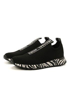 Женские текстильные кроссовки bodie MICHAEL MICHAEL KORS черно-белого цвета, арт. 43T1BDFP3D | Фото 1