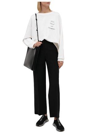 Женские текстильные кроссовки bodie MICHAEL MICHAEL KORS черно-белого цвета, арт. 43T1BDFP3D | Фото 2