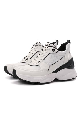 Женские кожаные кроссовки mickey MICHAEL MICHAEL KORS белого цвета, арт. 43T1MKFS2D | Фото 1