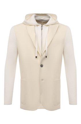 Мужской шерстяной пиджак ELEVENTY кремвого цвета, арт. D70GIAD04 TES0D140 | Фото 1