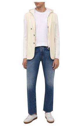 Мужской шерстяной пиджак ELEVENTY кремвого цвета, арт. D70GIAD04 TES0D140 | Фото 2