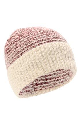 Женская кашемировая шапка KITON розового цвета, арт. D52764X0480A   Фото 1 (Материал: Шерсть, Кашемир)