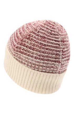 Женская кашемировая шапка KITON розового цвета, арт. D52764X0480A   Фото 2 (Материал: Шерсть, Кашемир)