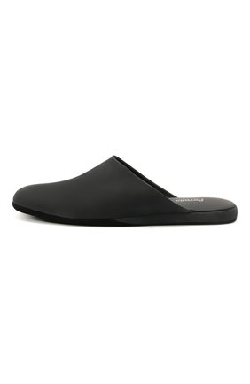 Мужского кожаные домашние туфли FARFALLA черного цвета, арт. CMP0RMAB   Фото 3 (Материал внутренний: Натуральная кожа; Мужское Кросс-КТ: тапочки-обувь)
