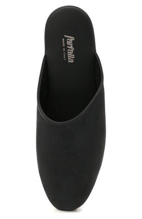 Мужского кожаные домашние туфли FARFALLA черного цвета, арт. CMP0RMAB   Фото 5 (Материал внутренний: Натуральная кожа; Мужское Кросс-КТ: тапочки-обувь)