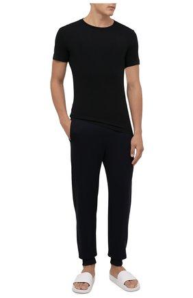 Мужская комплект из двух футболок POLO RALPH LAUREN черного цвета, арт. 714835960   Фото 2 (Материал внешний: Хлопок; Рукава: Короткие; Длина (для топов): Стандартные; Кросс-КТ: домашняя одежда)