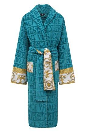 Женский хлопковый халат VERSACE бирюзового цвета, арт. ZACJ00008/ZC0SP052 | Фото 1
