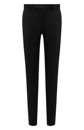 Мужские шерстяные брюки VERSACE черного цвета, арт. 1001262/1A00893 | Фото 1