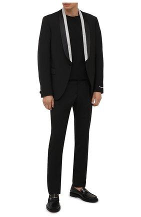 Мужские шерстяные брюки VERSACE черного цвета, арт. 1001262/1A00893 | Фото 2