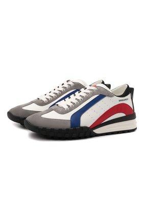 Мужские комбинированные кроссовки DSQUARED2 разноцветного цвета, арт. SNM0196 13220001 | Фото 1