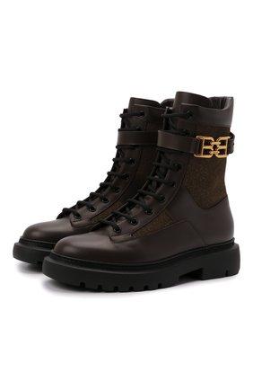 Женские кожаные ботинки gioele BALLY темно-коричневого цвета, арт. GI0ELE FLAT-T/07 | Фото 1