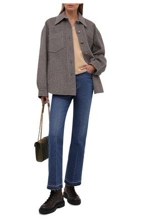 Женские кожаные ботинки gioele BALLY темно-коричневого цвета, арт. GI0ELE FLAT-T/07 | Фото 2