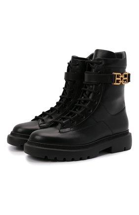 Женские кожаные ботинки gioele BALLY черного цвета, арт. GI0ELE FLAT/00 | Фото 1