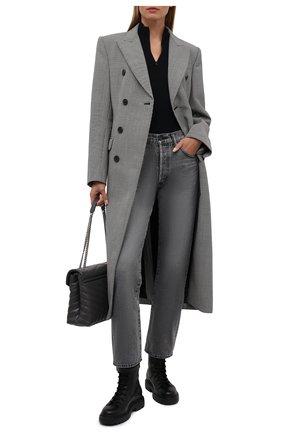 Женские кожаные ботинки gioele BALLY черного цвета, арт. GI0ELE FLAT/00 | Фото 2