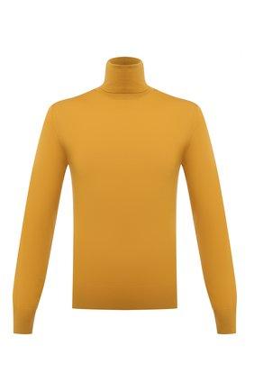 Мужской шерстяная водолазка DOLCE & GABBANA желтого цвета, арт. GXE65T/JAV87 | Фото 1 (Длина (для топов): Стандартные; Материал внешний: Шерсть; Рукава: Длинные; Мужское Кросс-КТ: Водолазка-одежда; Стили: Гламурный, Кэжуэл; Принт: Без принта)