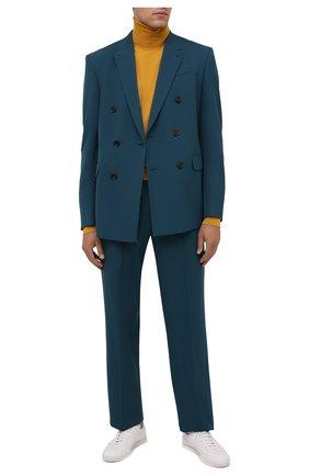 Мужской шерстяная водолазка DOLCE & GABBANA желтого цвета, арт. GXE65T/JAV87 | Фото 2 (Длина (для топов): Стандартные; Материал внешний: Шерсть; Рукава: Длинные; Мужское Кросс-КТ: Водолазка-одежда; Стили: Гламурный, Кэжуэл; Принт: Без принта)