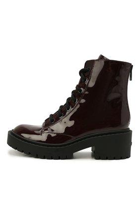 Женские кожаные ботинки pike KENZO темно-бордового цвета, арт. FB62BT340L64 | Фото 2 (Подошва: Платформа; Материал внутренний: Натуральная кожа; Каблук высота: Низкий; Женское Кросс-КТ: Военные ботинки)