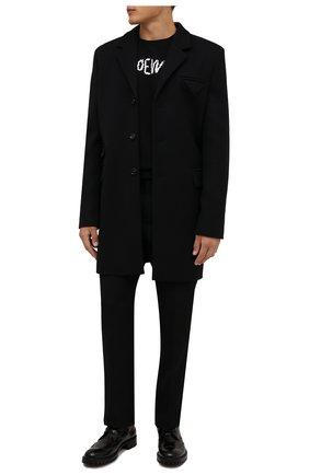 Мужские кожаные дерби greca VERSACE черного цвета, арт. 1000773/D9VAC | Фото 2 (Материал внутренний: Натуральная кожа; Стили: Классический)