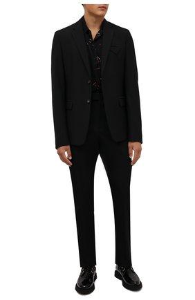 Мужские кожаные дерби teddy SAINT LAURENT черного цвета, арт. 668891/1TV00 | Фото 2
