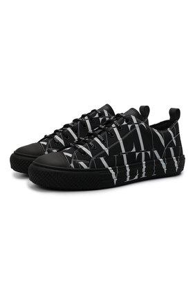 Мужские текстильные кеды giggies VALENTINO черного цвета, арт. WY2S0D57/JKY   Фото 1 (Подошва: Массивная; Материал внутренний: Текстиль; Материал внешний: Текстиль)