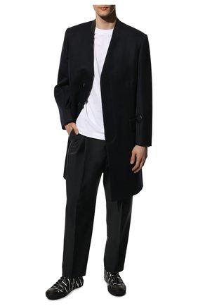 Мужские текстильные кеды giggies VALENTINO черного цвета, арт. WY2S0D57/JKY   Фото 2 (Подошва: Массивная; Материал внутренний: Текстиль; Материал внешний: Текстиль)