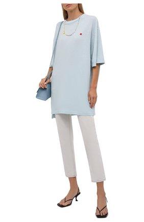 Женская хлопковая футболка ACNE STUDIOS светло-голубого цвета, арт. CL0105/W | Фото 2