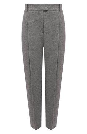 Женские брюки BOSS серого цвета, арт. 50458592 | Фото 1 (Длина (брюки, джинсы): Укороченные; Женское Кросс-КТ: Брюки-одежда; Силуэт Ж (брюки и джинсы): Прямые; Стили: Кэжуэл; Материал внешний: Лиоцелл)