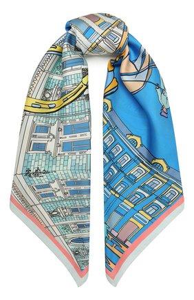 Женский шелковый платок neglinnaya RADICAL CHIC голубого цвета, арт. 543271.07.02 | Фото 1