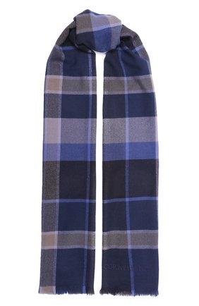 Мужской шерстяной шарф CORNELIANI синего цвета, арт. 88B323-1829072/00   Фото 1