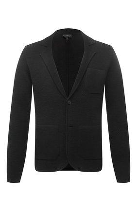 Мужской шерстяной пиджак EMPORIO ARMANI темно-серого цвета, арт. 6K1GY1/1MFDZ | Фото 1