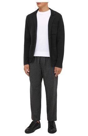Мужской шерстяной пиджак EMPORIO ARMANI темно-серого цвета, арт. 6K1GY1/1MFDZ | Фото 2