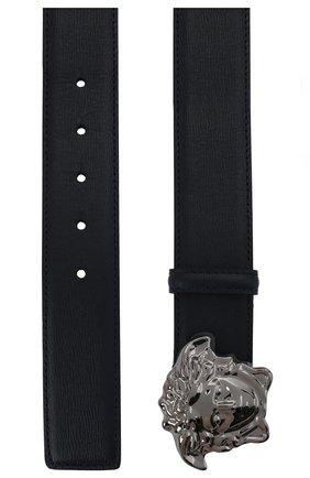 Мужской кожаный ремень VERSACE темно-синего цвета, арт. 1001340/1A00593   Фото 3 (Случай: Повседневный, Формальный)