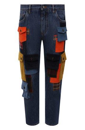 Мужские джинсы DOLCE & GABBANA синего цвета, арт. GWNJAD/G8EJ4   Фото 1