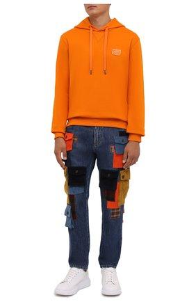 Мужские джинсы DOLCE & GABBANA синего цвета, арт. GWNJAD/G8EJ4   Фото 2