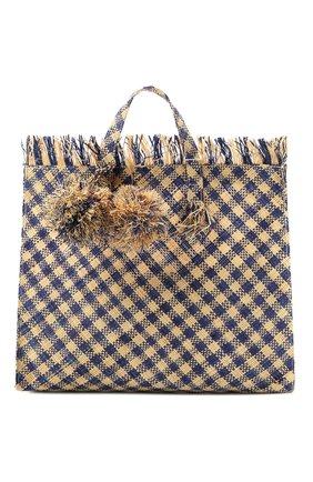 Детская сумка BONPOINT синего цвета, арт. E19ESKALI(470)_495983   Фото 1 (Материал: Растительное волокно)