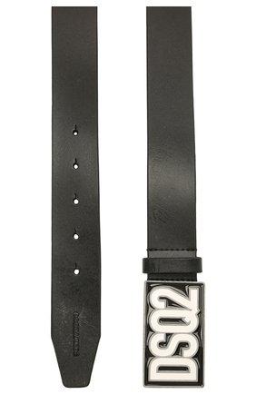 Детский кожаный ремень DSQUARED2 черного цвета, арт. DQ0464-D005Z | Фото 2