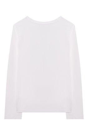 Детская хлопковый лонгслив POLO RALPH LAUREN белого цвета, арт. 313854212 | Фото 2