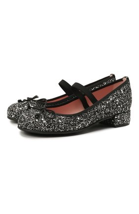 Детские туфли PRETTY BALLERINAS серебряного цвета, арт. 48.807/KYLIE | Фото 1