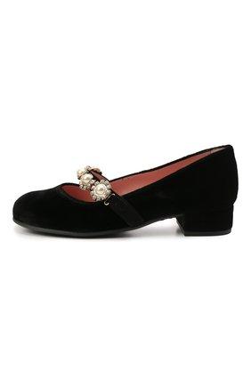 Детские текстильные туфли PRETTY BALLERINAS черного цвета, арт. 49.632-R/AFR0DITE-D0 | Фото 2