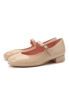 Детские кожаные туфли PRETTY BALLERINAS розового цвета, арт. 49.649/SHADE | Фото 1