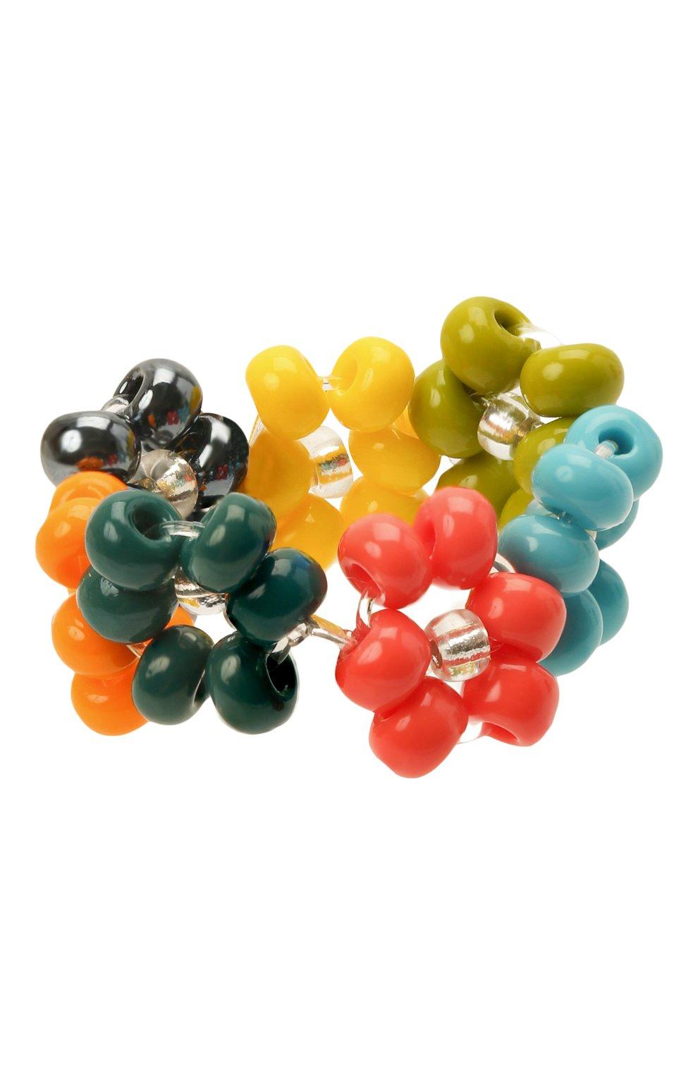 Женское кольцо ромашка HIAYNDERFYT разноцветного цвета, арт. 1-1SLVRRM | Фото 1 (Материал: Стекло, Пластик)