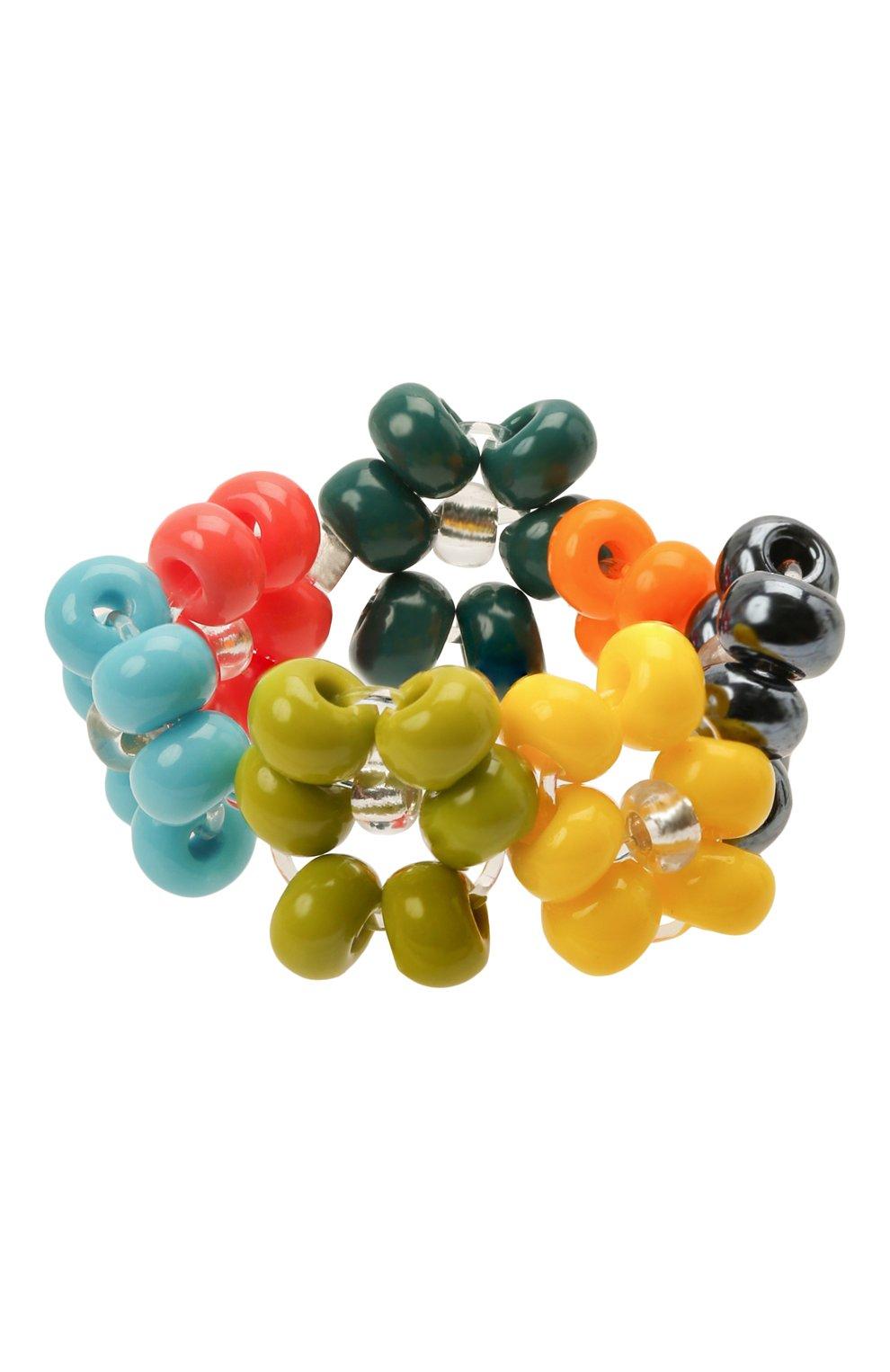 Женское кольцо ромашка HIAYNDERFYT разноцветного цвета, арт. 1-1SLVRRM | Фото 3 (Материал: Стекло, Пластик)