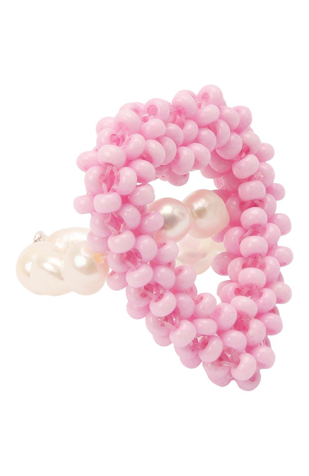 Женское кольцо розовое сердце HIAYNDERFYT розового цвета, арт. 1-1PEMPTYHT   Фото 1 (Материал: Стекло, Пластик)