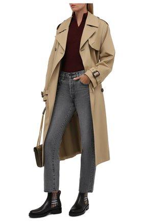 Женские кожаные ботинки allostock chk BURBERRY черного цвета, арт. 8042363 | Фото 2 (Каблук высота: Низкий; Материал внутренний: Натуральная кожа; Подошва: Платформа; Женское Кросс-КТ: Челси-ботинки)