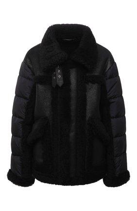 Женская дубленка DOLCE & GABBANA черного цвета, арт. F9L03L/FUP61   Фото 1