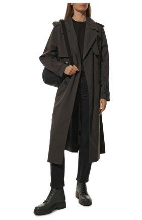 Женские комбинированные ботинки martis 20 GIANVITO ROSSI серого цвета, арт. G73884.20G0M.CE0LLAP | Фото 2 (Материал внутренний: Натуральная кожа; Материал внешний: Текстиль; Каблук высота: Низкий; Подошва: Платформа; Женское Кросс-КТ: Военные ботинки)